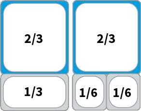 Schaubild: Beispiel Kombinationsmöglichkeiten von GN 2/3 Behältern