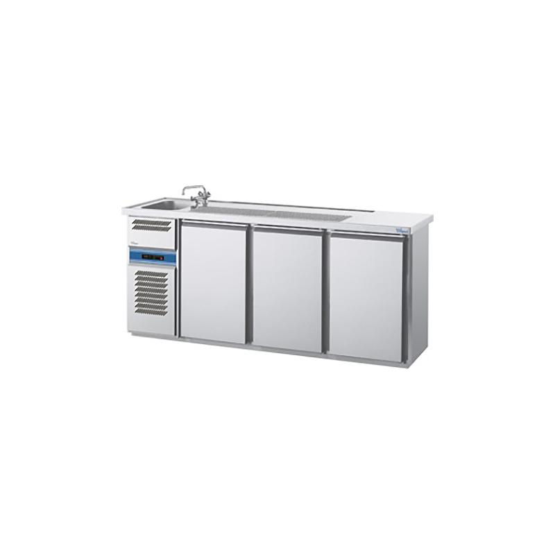 cool compact Biertheke MAGNOS [ 1 Becken links / 3 Türen ]