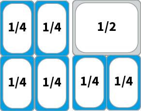 Schaubild: Beispiel Kombinationsmöglichkeiten von GN 1/4 Behältern