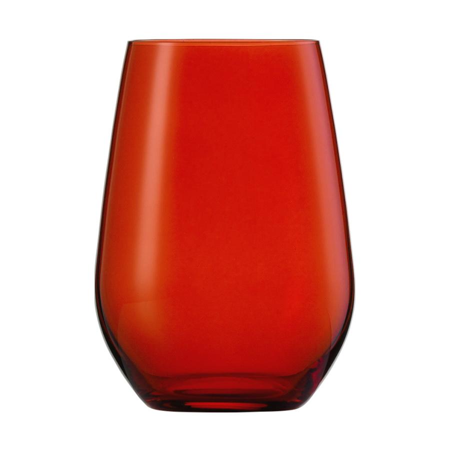 Wasserglas rot VINA SPOTS - 397 ml