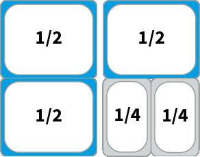 Schaubild: Beispiel Kombinationsmöglichkeiten von GN 1/2 Behältern