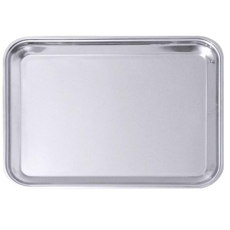 Contacto Tablett - 31 x 24 cm - Edelstahl - rechteckig