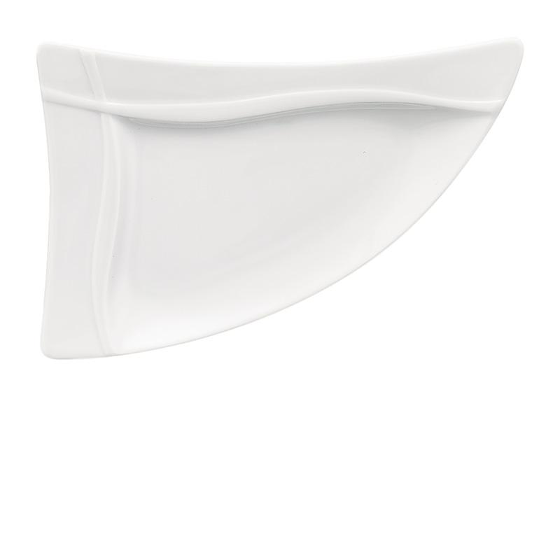 Bauscher Platte dreieckig Fahne 21 cm - Serie pleasure