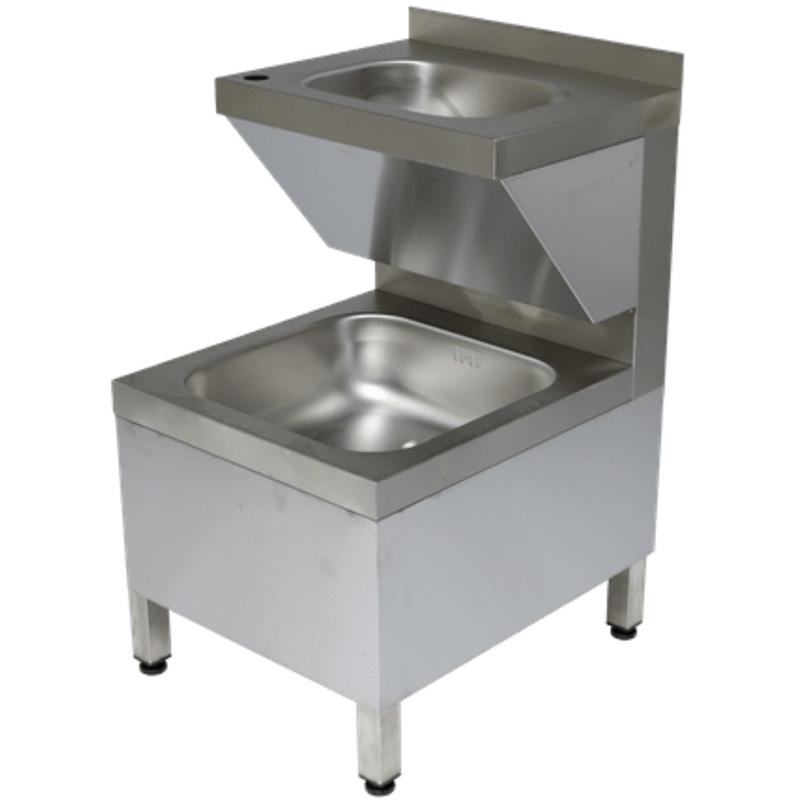 Rieber Handwasch-Ausgussbecken Kombination - HAK-K II