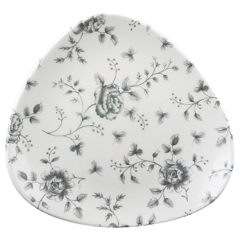 Churchall Teller flach dreieckig 23 cm - Serie Rose Chintz Grey