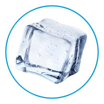 Beispiel für die Eisform Würfel