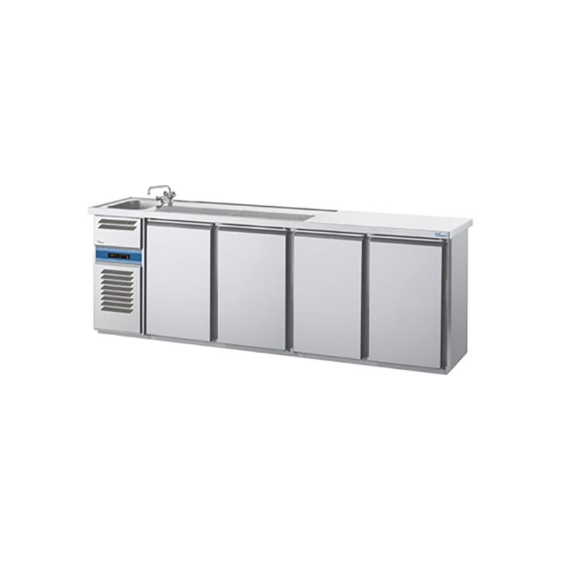 cool compact Biertheke MAGNOS [ 1 Becken links / 4 Türen ]