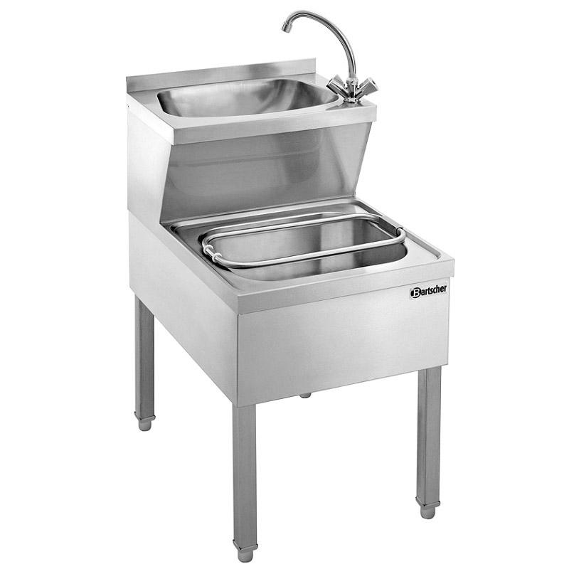 Bartscher Handwasch-Ausgussbecken Kombination I - 23,4  Liter