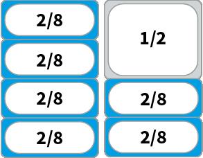 Schaubild: Beispiel Kombinationsmöglichkeiten von GN 2/8 Behältern